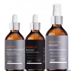 Biotin, Bamboo, Keratin Hair Growth Booster Kit